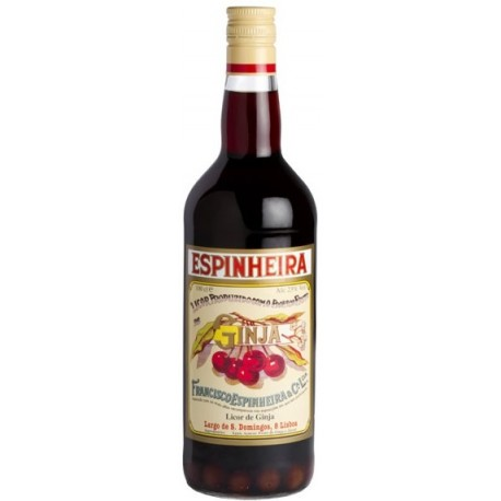 Liqueur de Ginja Espinheira Avec des Fruits 1L
