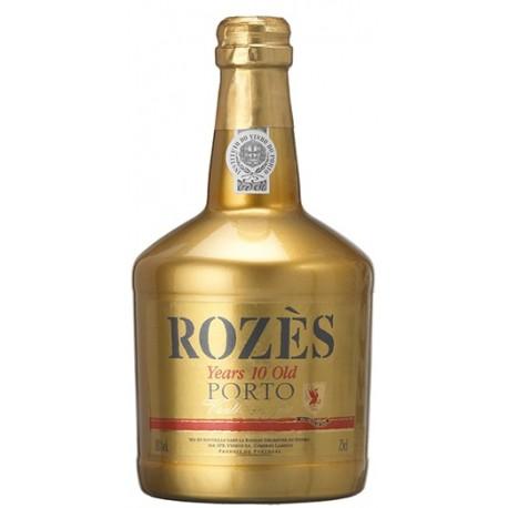 Rozès Porto 10 Years Old Tawny Port Gold Bottle